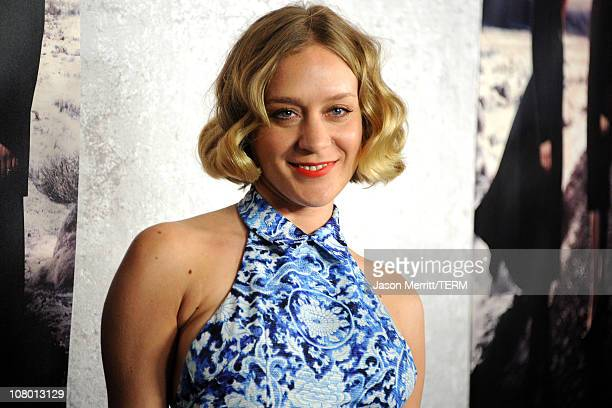 Actress Chloe Sevigny arrives at HBO's Big Love Season 5 premiere at Directors Guild of America on January 12 2011 in Los Angeles California