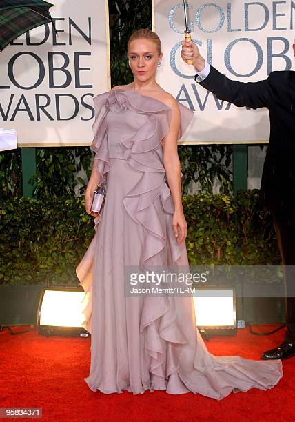Actress Chloe Sevigny arrives at the 67th Annual Golden Globe Awards held at The Beverly Hilton Hotel on January 17 2010 in Beverly Hills California