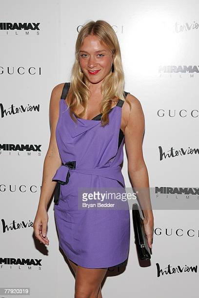 """Actress Chloe Sevigny arrives at the premiere of """"The Diving Bell And The Butterfly"""" at the Ziegfeld Theater on November 14, 2007 in New York City."""