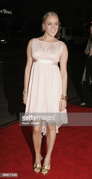 Actress Chloe Sevigny arrives at the premiere of the HBO Original Series Big Love at the Chinese Theater on February 23 2006 in Los Angeles California