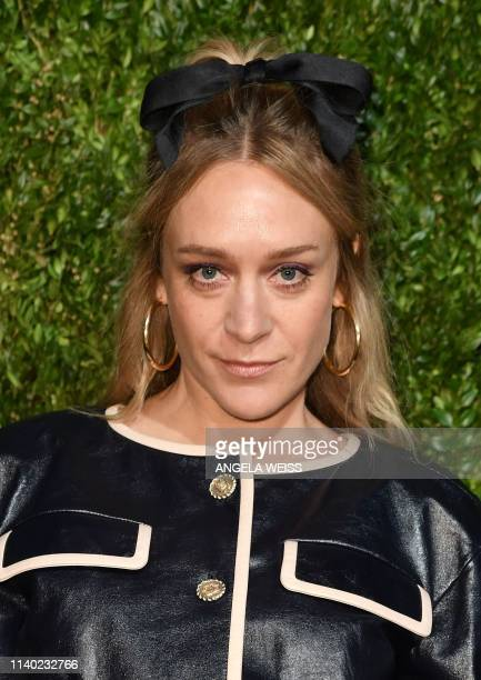 Actress Chloe Sevigny arrives for the 14th Annual Tribeca Film Festival Artists Dinner hosted by Chanel at Balthazar restaurant on April 29, 2019 in...