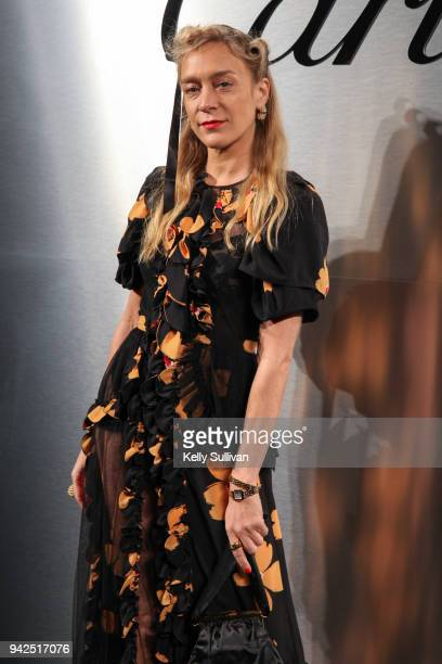 Actress Chloe Sevigny arrives on the red carpet for the Santos de Cartier Watch Launch at Pier 48 on April 5 2018 in San Francisco California