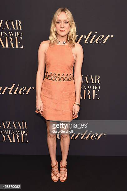 Actress Chloe Sevigny attends a dinner celebrating Women Who Dare hosted by Panthere De Cartier and Harper's Bazaar at Skylight Clarkson Sq on...