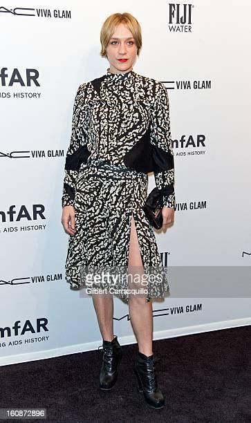 Actress Chloe Sevigny attends amfAR New York Gala To Kick Off Fall 2013 Fashion Week at Cipriani, Wall Street on February 6, 2013 in New York City.