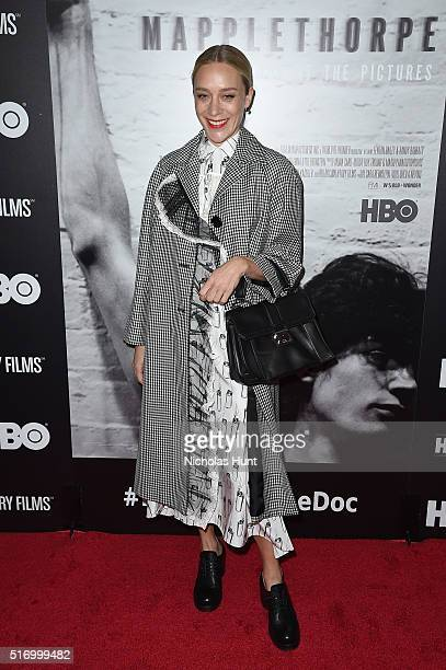 """Actress Chloe Sevigny attends """"Mapplethorpe: Look At The Pictures"""" New York Premiere at Time Warner Center on March 22, 2016 in New York City."""