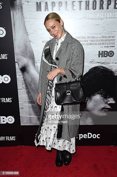 Actress Chloe Sevigny attends 'Mapplethorpe Look At The Pictures' New York Premiere at Time Warner Center on March 22 2016 in New York City