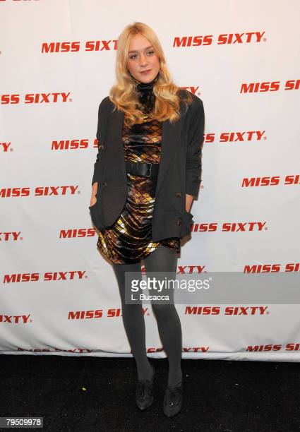 Actress Chloe Sevigny attends Miss Sixty Fall 2008 during MercedesBenz Fashion Week at the Tent Bryant Park on February 3 2008 in New York City