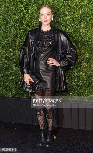 Actress Chloe Sevigny attends the 11th Annual Chanel Tribeca Film Festival Artists Dinner at Balthazar on April 18 2016 in New York City