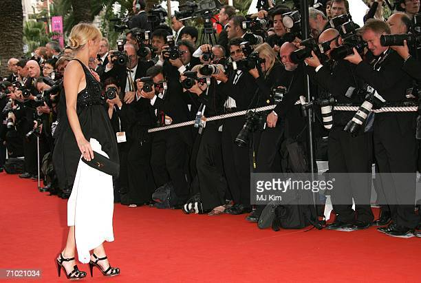 US actress Chloe Sevigny attends the 'Babel' premiere at the Palais des Festivals during the 59th International Cannes Film Festival May 23 2006 in...