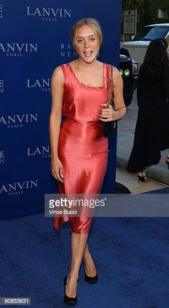 Actress Chloe Sevigny attends the Fall 2004 Lanvin Fashion Show benefiting the Rape Foundation on May 12 2004 at the Barneys New York store in...
