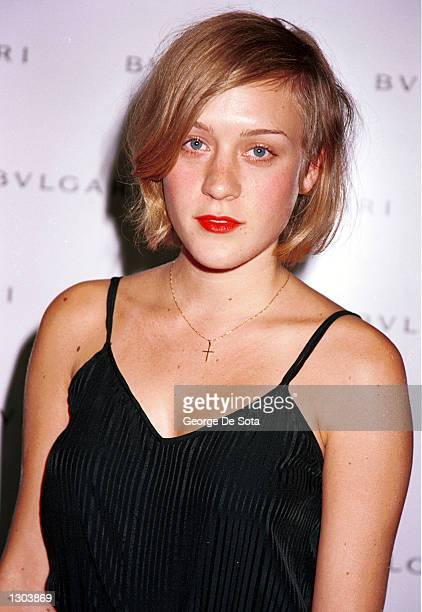 Actress Chloe Sevigny attends the launch of BVLGARI''s new ArtDeco inspired watch 'Rettangolo' June 20 2000 at Eugene lounge/restaurant in New York...