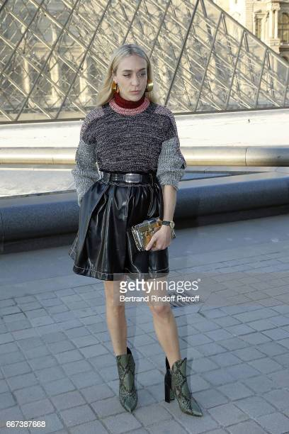 Actress Chloe Sevigny attends the LVxKOONS exhibition at Musee du Louvre on April 11 2017 in Paris France
