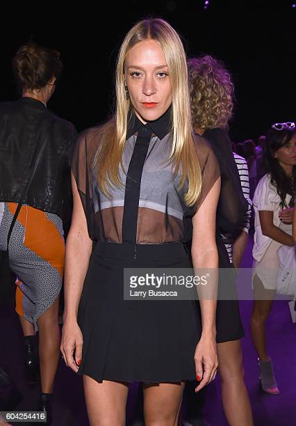 Actress Chloe Sevigny attends the Vera Wang Collection fashion show during New York Fashion Week: The Shows at The Arc, Skylight at Moynihan Station...