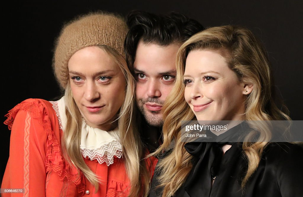 Actress Chloe Sevigny, director Danny Perez and actress Natasha Lyonne from the film ''Antibirth' posed for a portrait during The Hollywood Reporter 2016 Sundance Studio At Rock & Reilly's - Day 3 - 2016 Park City on January 24, 2016 in Park City, Utah.