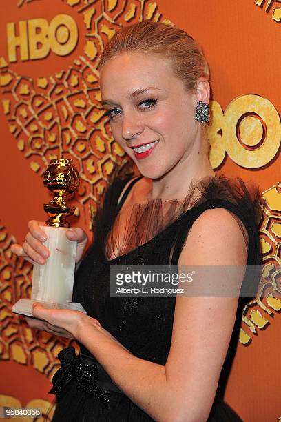 Actress Chloe Sevigny poses with her Best Performance by an Actress in a Supporting Role in a Series MiniSeries or Motion Picture Made for Television...