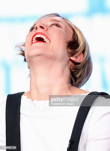 Actress Chloe Sevigny speaks onstage during the Portlandia panel discussion at the IFC portion of the 2013 Winter TCA Tourduring 2013 Winter TCA Tour...