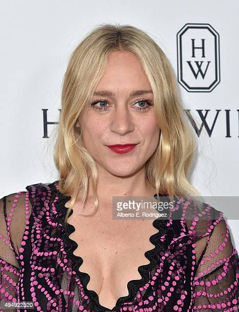 Actress Chloe Sevigny wearing Gucci attends amfAR's Inspiration Gala Los Angeles at Milk Studios on October 29 2015 in Hollywood California