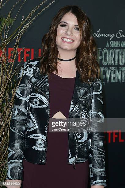 Actress Chloe Sonnenfeld attends NETFLIX Presents the World Premiere of Lemony Snicket's A Series of Unfortunate Events at AMC Lincoln Square Theater...