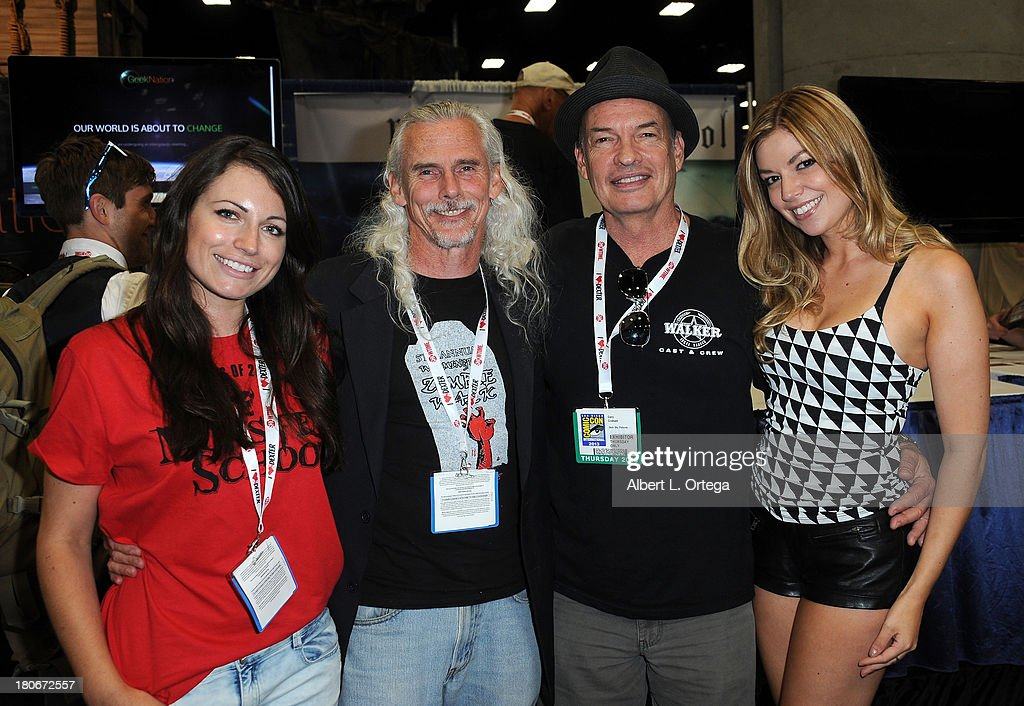 Actress Chloe Zak, actor Camden Toy, actor Gary Graham and actress Carlee Baker attend Day 1 of the 2013 Comic-Con International - General Atmosphere held at San Diego Convention Center on Thursday July 18, 2012 in San Diego, California.