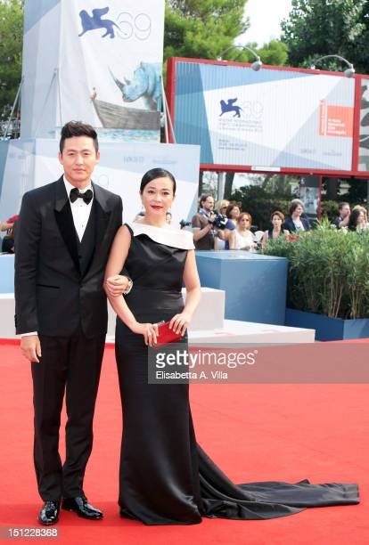 Actress Cho Minsoo and actor Lee Jungjin attend the 'Pieta' Premiere during the 69th Venice Film Festival at the Palazzo del Casino on September 4...