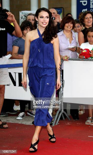 Actress Chole Bridges arrives to attend a meeting with the children of the jury on July 24 2010 in Giffoni Valle Piana Italy