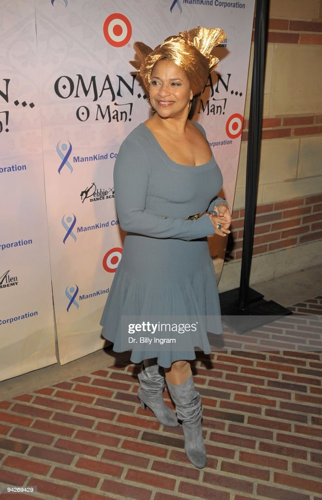 Actress/ choreographer Debbie Allen arrives at Debbie Allen's ''OMAN, Oh Man!'' opening night gala at the Royce Hall at UCLA on December 10, 2009 in Westwood, California.