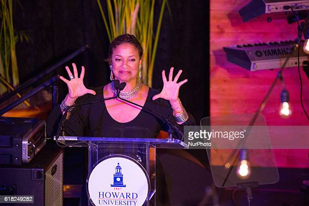 Actress choreographer producer and Howard University alumna Debbie Allen speaks in the Blackburn Center Ballroom on the campus of Howard University...