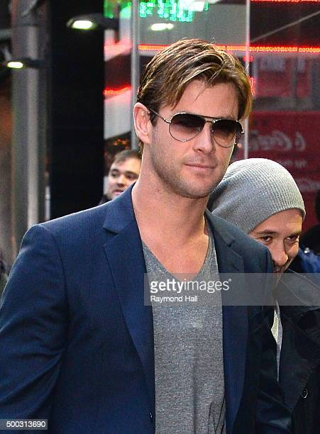 Actress Chris Hemsworth is seen outside 'Good Morning America' on December 7 2015 in New York City