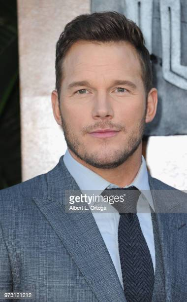 Actress Chris Pratt arrives for the Premiere Of Universal Pictures And Amblin Entertainment's 'Jurassic World Fallen Kingdom' held at Walt Disney...