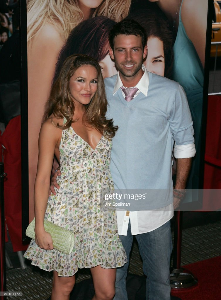 Actress Chrishell Stause and TV personality Graham Bunn attends the premiere of 'The Sisterhood of the Traveling Pants 2' at the Ziegfeld Theatre on July 28, 2008 in New York City.