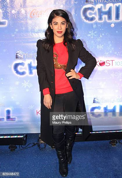Actress Chrissie Fit arrives at The Queen Mary's CHILL Tree Lighting Ceremony at The Queen Mary on November 23 2016 in Long Beach California