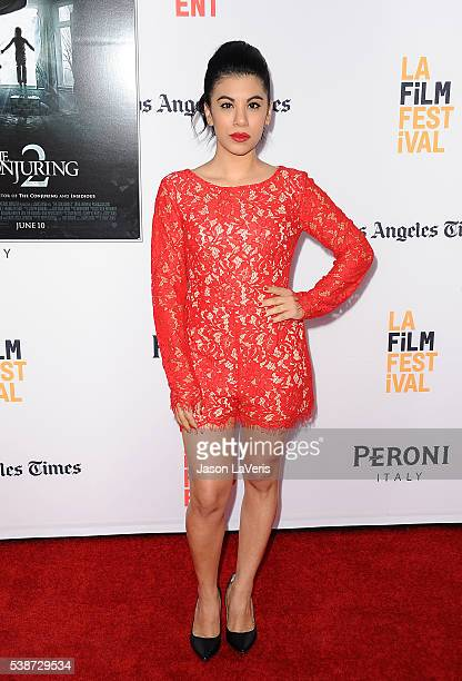 Actress Chrissie Fit attends the premiere of The Conjuring 2 at the 2016 Los Angeles Film Festival at TCL Chinese Theatre IMAX on June 7 2016 in...