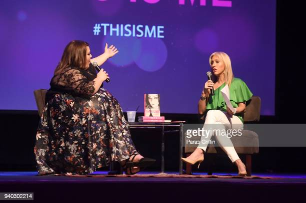 Actress Chrissy Metz and Emily Griffin onstage during This Is Me Loving The Person You Are Today book tour at Center Stage on March 30 2018 in...