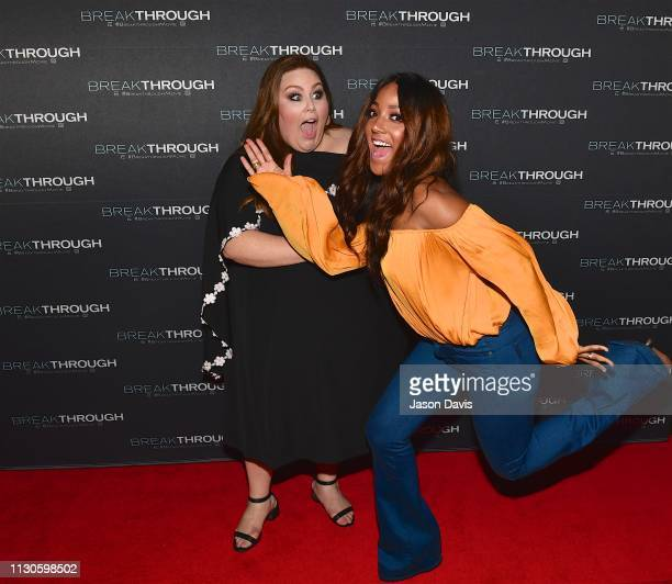Actress Chrissy Metz and Singer/Songwriter Mickey Guyton attend the 'Breakthrough' VIP Reception at Table 3 on March 14 2019 in Nashville Tennessee