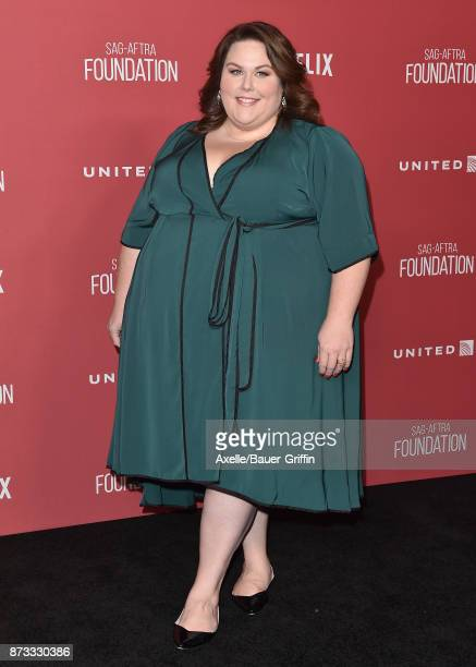 Actress Chrissy Metz arrives at SAGAFTRA Foundation Patron of the Artists Awards 2017 on November 9 2017 in Beverly Hills California