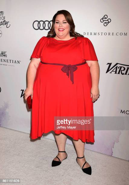 Actress Chrissy Metz arrives at the Variety's Power Of Women Los Angeles at the Beverly Wilshire Four Seasons Hotel on October 13 2017 in Beverly...