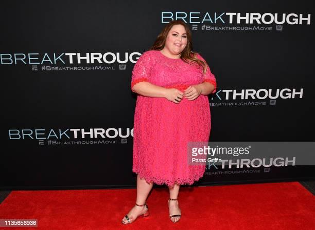 Actress Chrissy Metz attends Breakthrough advance screening at Regal Atlantic Station on March 13 2019 in Atlanta Georgia