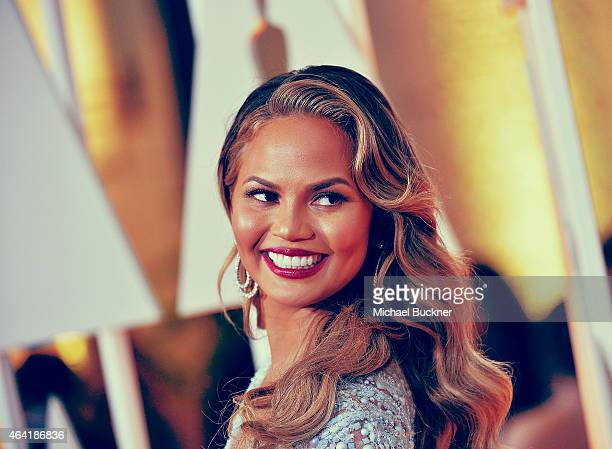 Actress Chrissy Teigen arrives at the 87th Annual Academy Awards at Hollywood Highland Center on February 22 2015 in Hollywood California