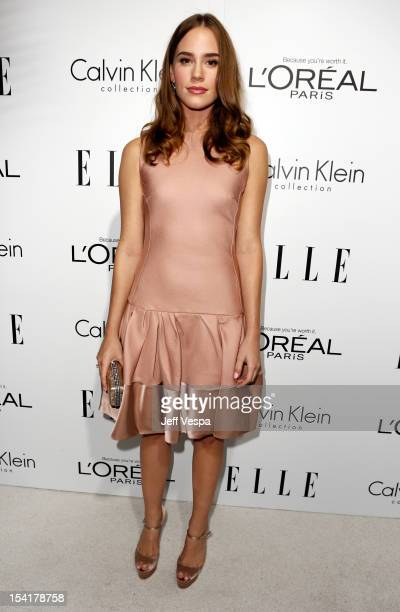 Actress Christa B Allen arrives at ELLE's 19th Annual Women In Hollywood Celebration at the Four Seasons Hotel on October 15 2012 in Beverly Hills...
