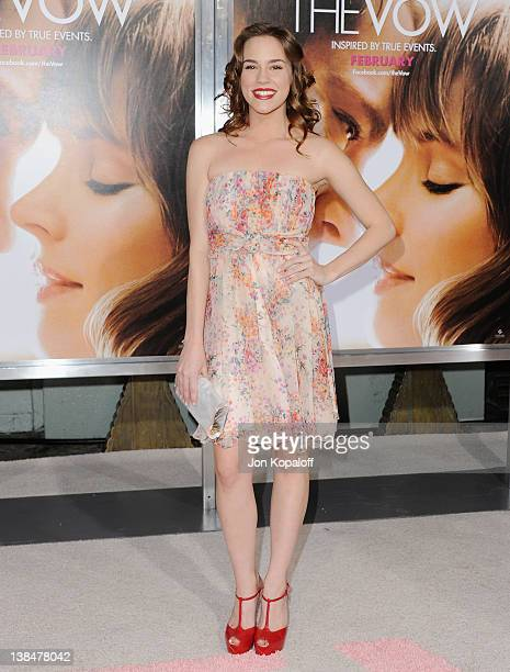 Actress Christa B Allen arrives at the Los Angeles Premiere The Vow at Grauman's Chinese Theatre on February 6 2012 in Hollywood California