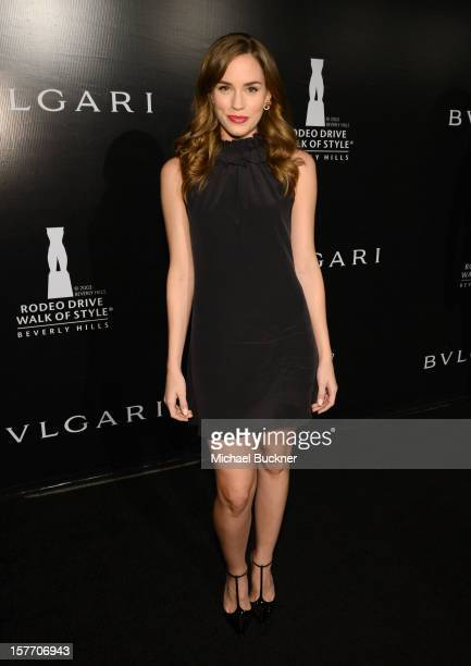 Actress Christa B Allen attends the Rodeo Drive Walk Of Style honoring BVLGARI and Mr Nicola Bulgari held at Bulgari on December 5 2012 in Beverly...