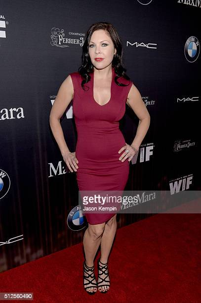 Actress Christa Campbell attends Ninth Annual Women In Film Pre-Oscar Cocktail Party presented by Max Mara, BMW, M-A-C Cosmetics and Perrier-Jouet at...