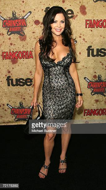 Actress Christa Campbell attends the fuse Fangoria Chainsaw Awards at the Orpheum Theater on October 15 2006 in Los Angeles California The awards...