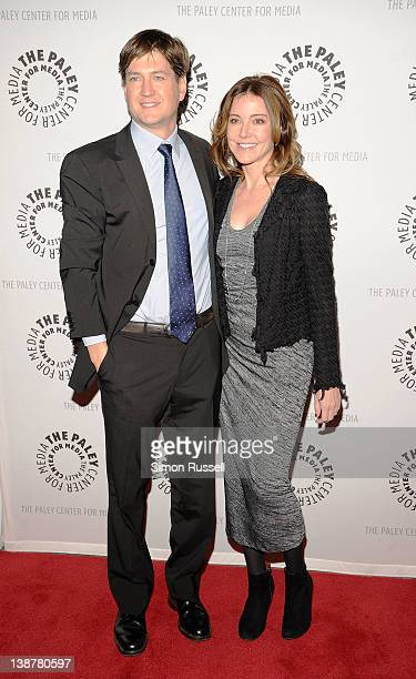 Actress Christa Miller and Bill Lawrence attend a Cougar Town viewing party at the Paley Center For Media on February 11 2012 in New York City