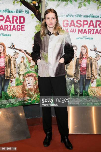 Actress Christa Theret attends the 'Gaspard va au mariage' Premiere at UGC Cine Cite des Halles on January 29 2018 in Paris France