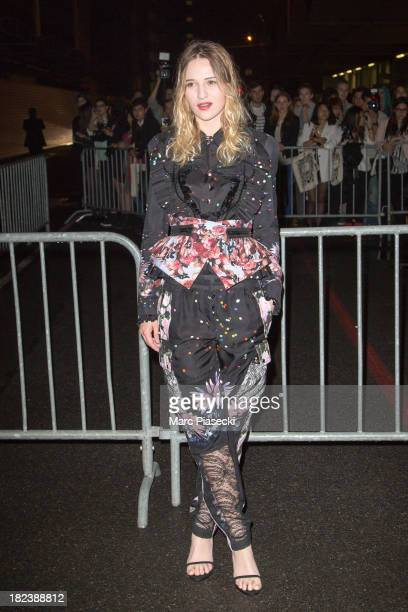 Actress Christa Theret attends the 'Givenchy' show as part of the Paris fashion week Womenswear 2014 at the Halle Freyssinet on September 29 2013 in...