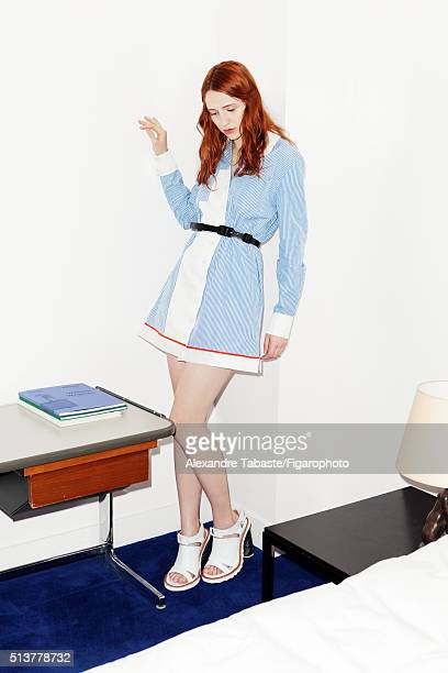 Actress Christa Theret is photographed for Madame Figaro on December 18 2015 in Paris France Dress belt and shoes PUBLISHED IMAGE CREDIT MUST READ...