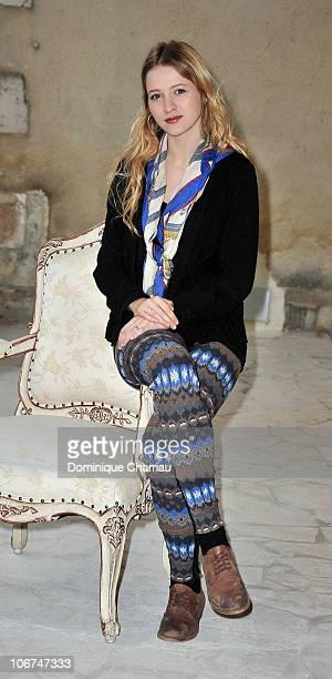 Actress Christa Theret poses for the photocall of 'Le village des hombres' at hotel Renoir during the Festival of sarlat on November 11 2010 in...