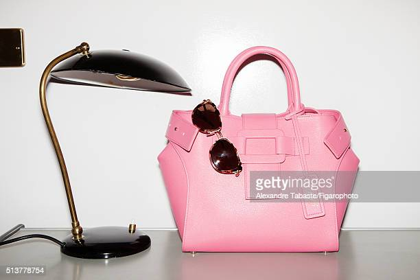 Actress Christa Theret's style inspirations are photographed for Madame Figaro on December 18 2015 in Paris France Bag sunglasses PUBLISHED IMAGE...