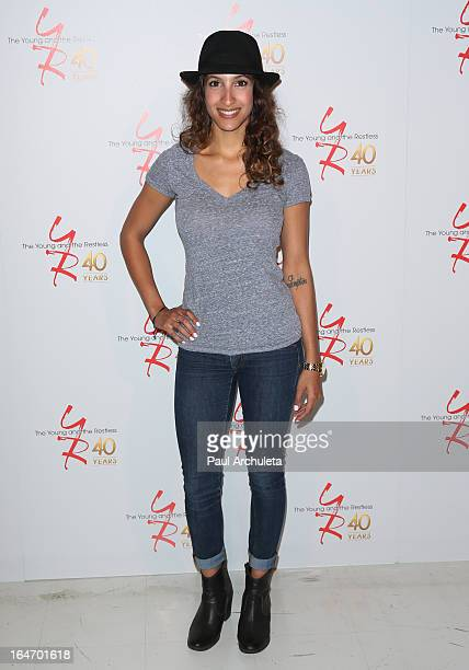 Actress Christel Khalil attends 'The Young The Restless' 40th anniversary cake cutting ceremony at CBS Television City on March 26 2013 in Los...